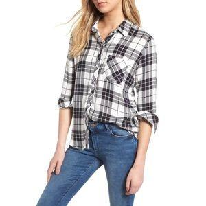 Rails • Black/White Hunter Plaid Button Down Shirt